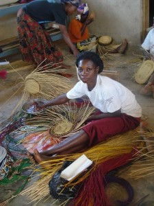 basket weaving in Ghana
