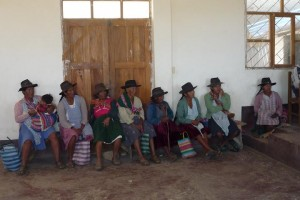 bolivian women in Sojta Pata