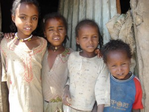 Children outside Addis