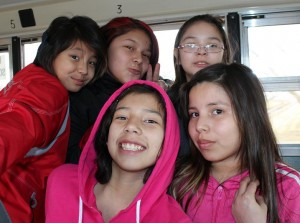 Five Students at Saddle Lake, Alberta