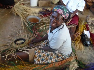 Female basketweaver, N. Ghana