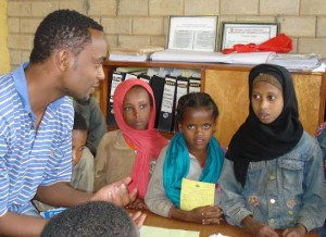 A class for girls in Ethiopia.