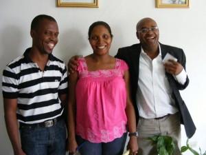 Laughing workshop participants