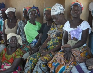 women farmers & children beneficiaries in Yorogo UER