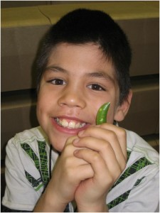 boy with pea