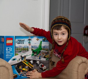 Evan got a new Lego set for his birthday - and Canadian Feed The Children got $85 from Evan towards our Canadian programs.
