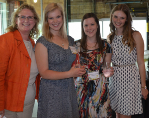 Kim Lawson, far right, with the CFTC team at a summer 2014 donor appreciation event. L to R: President & CEO, Debra Kerby; Amy Leblanc, Grant & Proposals Writer; Bonnie McKeown, Senior Community Engagement Officer, and Kim - volunteer and co-President of the Carleton University CFTC Club.