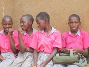 HUYSLINCI students at St Kizito Primary school
