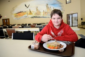 Students are taught how to make healthy choices - and healthy food is always available at Eel Ground First Nation, thanks to CFTC donor support.